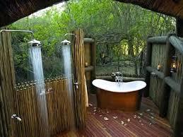 outdoor shower enclosure plans with white bathtub diy