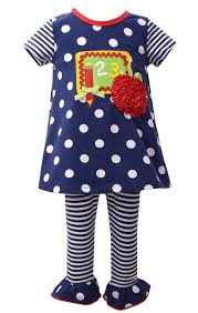Bonnie Jean Back To School 1 2 3 Chalkboard Tunic And