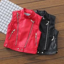 autumn winter new zipper pu leather children waistcoat boys girls warm vests kids waistcoat toddler outwear