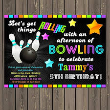 Bowling Party Invitations Amazon Com Bowling Glow In The Dark Themed Birthday Party