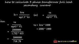 Motor Full Load Amps Chart How To Calculate Three Phase Transformer Full Load Secondary Current