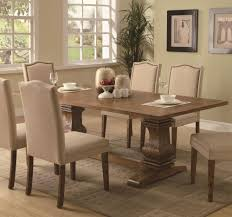 marie louise piece expandable trestle dining amazoncom parkins rectangular pedestal coffee brown dining table table