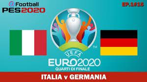 PES 2020 EURO 2020 - Quarti di finale ITALIA v GERMANIA - 1#15 - YouTube