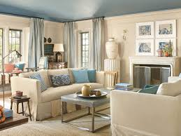 ... Magnificent Design For Home Interior Decorating Ideas : Terrific Living  Room With Cream Wool Sofa And ...