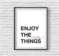enjoy the little things print black white rose gold art copper print inspirational wall decor quote poster typography print modern on rose gold wall art quotes with enjoy the little things print black white rose gold art copper