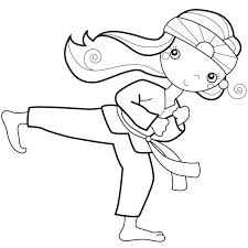 karate kid coloring pa kids karate coloring pages printable
