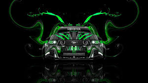Tony Kokhan Monster Energy Logo Ford Mustang Gt Muscle Car Front