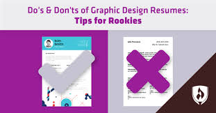 Graphic Designer Resume Tips Dos Donts Of Graphic Design Resumes Tips For Rookies