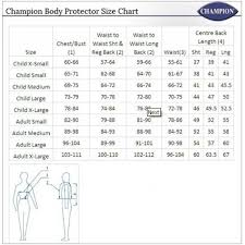 Hoggs Of Fife Size Chart Champion Ladies Freedom Body Protector Old Mill Saddlery