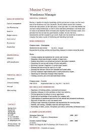 Warehouse Manager Resume Examples Job Description Stock
