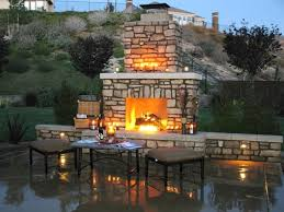 stone fireplace backyard lanscaping ideas fireplaces homesthetics