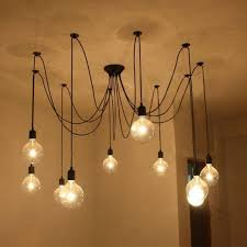 dining room light fuloon vintage edison multiple ajule diy ceiling spider within bulb chandelier prepare 12