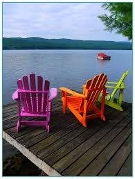 colored plastic adirondack chairs