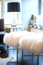 mongolian fur bench fur stool shes crafty sheepskin bench lamb fur stools mongolian fur