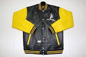 black leather yellow jacket