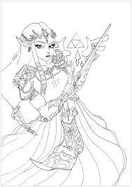 Manga Zelda Krissy Mangas Anim S Coloriages Difficiles Pour