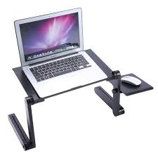 portable mobile laptop standing desk for bed sofa laptop folding table notebook desk with mouse pad