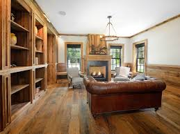 hardwood floor designs. Rustic Living Room With Wide Plank Golden Pecan Hardwood Floor Designs