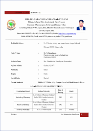 Best Ideas Of Resume Format For Fresher Charming Bsc Fresher
