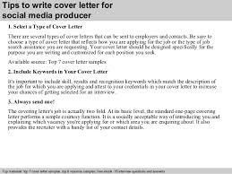 Sample Film Cover Letter Social Media Producer Cover Letter
