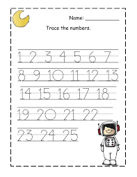 Preschool Number Worksheets 1 In Addition To Counting Tracing As ...