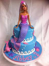 Childrens Birthday Cakes Barbie Mermaid Cake Vanilla Cakes With