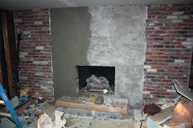 stacked brick fireplace tile over brick fireplace basement diy stacked stone over brick fireplace