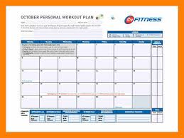 workout template excel 8 excel workout template informal email