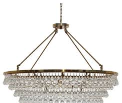 celeste extra large glass drop crystal chandelier brass finish