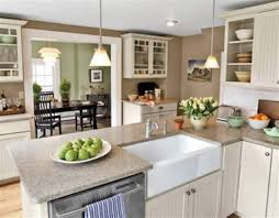 Comfy Kitchen Decor Granite Counter On Island As Wells As Cabientry