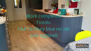 Farrow And Ball Kitchen Farrow Ball Stiffkey Blue No 281 Kitchen In Custom Colour