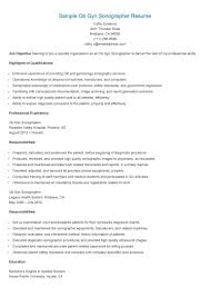 Entracing Sonographer Resume Sweetlooking Resume Cv Cover Letter