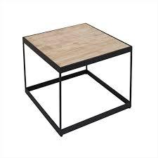 table d'appoint carrée de style industriel