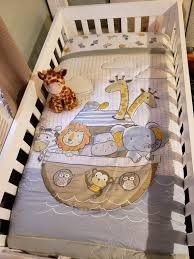 noah s ark 4 piece crib bedding set
