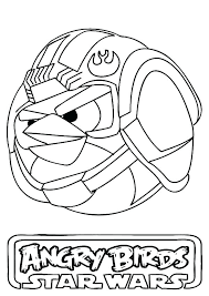 Printable Star Wars Coloring Pages Angry Bird Star Wars Coloring