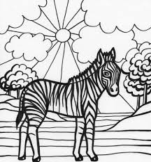 Small Picture Coloring Pages Cartoon Zebra Color By Number Free Printable