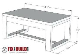 plans for coffee table concrete top coffee table plans woodworking plans round coffee table vintage plan