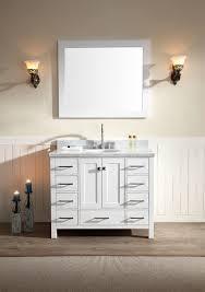 single sink white bathroom vanity. ariel cambridge 43\ single sink white bathroom vanity