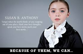 Susan B Anthony Quotes Enchanting Little Girls Dress Up As Iconic Figures In Women48s History The