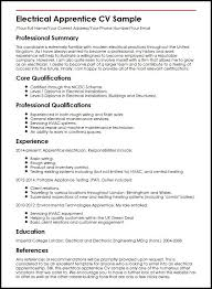 Sample Of Electrician Resumes Electrical Apprentice Cv Sample Myperfectcv