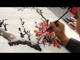 Class painting <b>Chinese painting</b> - first lesson - YouTube