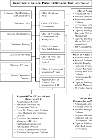 Organization Structure Of The Department Of National Parks