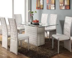 Modern White Dining Room Set  Cteamus - Modern white dining room sets