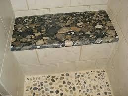 stone shower bench