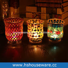china for wedding party decoration crafts mosaic glass hurricane candle holder china glass candle holder mosaic candle holders