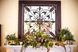 Evergreen-Mantle-Centerpieces - Elizabeth Anne Designs: The Wedding Blog