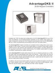 aas advantage dks ii digital keypads keypad controllers for aas dksii keypad brochure pdf