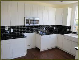 Modern Kitchen Tile Wonderful Black And White Kitchen Design Idea With Solid Black