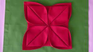 Napkin Folding - Lotus - YouTube