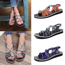 <b>Женщины Мода Летом</b> Богемия Плоские сандалии <b>Пляж</b> клип toe ...